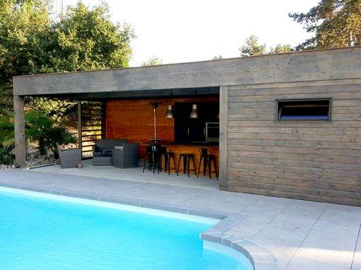 Construction d'un pool-house complet