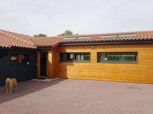 Extension ossature bois pour pavillon de plain-pied