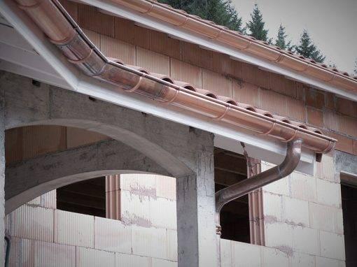 Couverture et Zinguerie cuivre d'une villa neuve